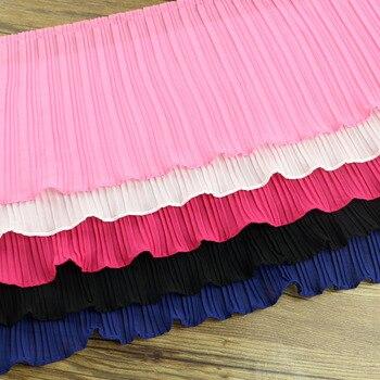 2 ярда шифона, 100 раз кружевной отделкой шеи манжеты юбка DIY ручной работы Кружева занавес