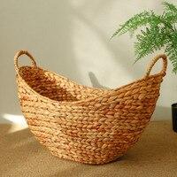 Toy Organizer Dirty Clothes Kids Laundry Basket With Handles Baskets Wicker Basket Storage Belly Basket Golden