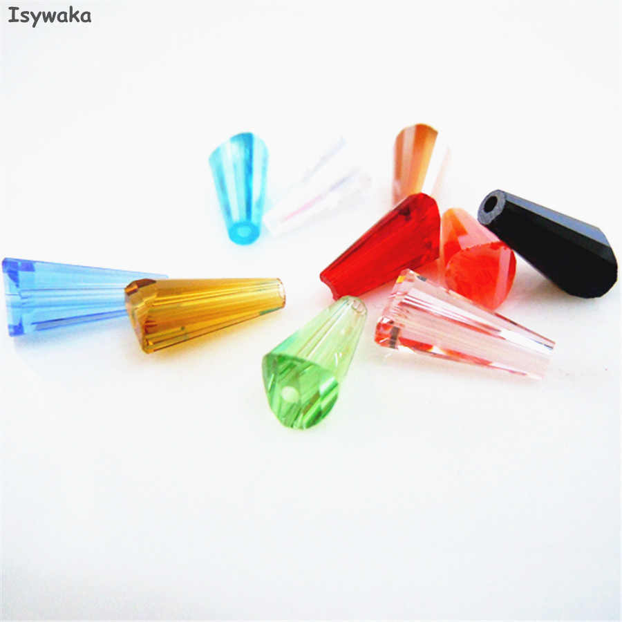 U Pick Color 50pcs 6X12MM Tower Shape Austria Crystal Beads Glass Beads Loose Spacer Bead For DIY Jewelry Making