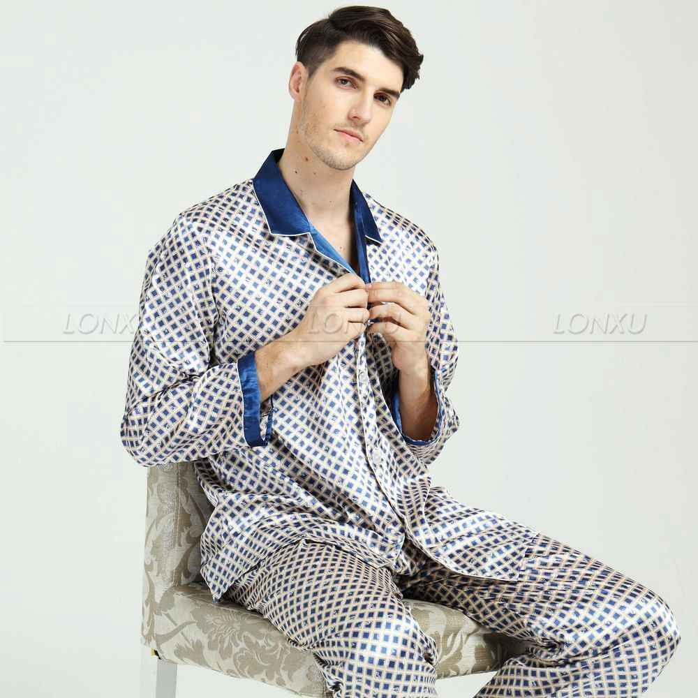 Detail Feedback Questions about Chinese Style Sleepwear Male Silk ... a61d2595a