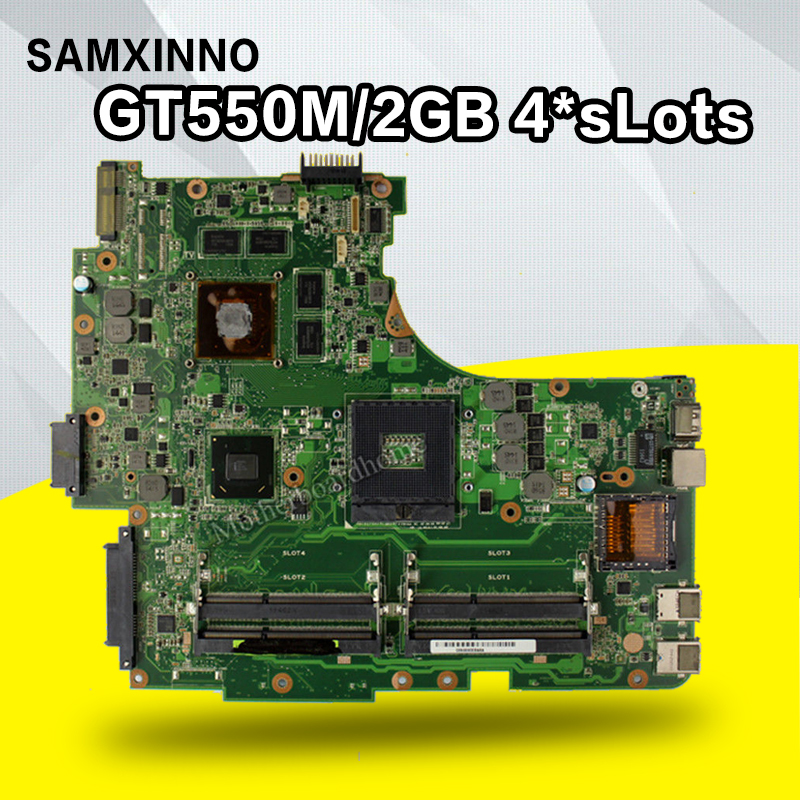 GT550M/2GB 4*sLots N53SN Motherboard REV:2.2/2.0 For ASUS N53S N53SN laptop Motherboard N53SV Mainboard N53SN Motherboard testok laptop motherboard n53sv n53sn for asus n53s n53sn n53sm with geforce gt550m 2g ddr3 4 ram solts rev2 0 2 2 tested ok