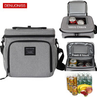 DENUONISS Outdoor Cooler Insulated Box Self driving Tour Travel Camping Picnic Bag Beer Cool Ice Shoulder Food Case