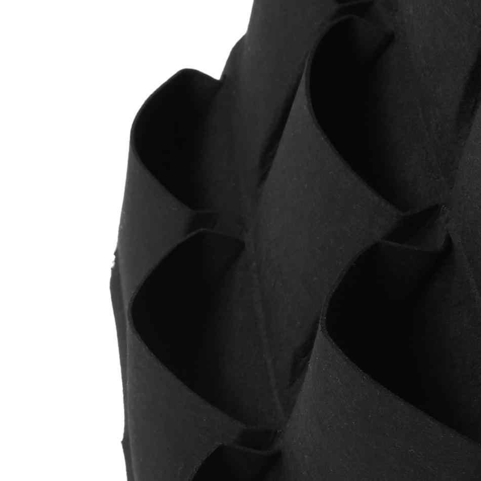 7/12/15/18 карманов фетр, висящий вертикально кармашки для выращивания растений садовый горшок для дома и улицы травы растение в горшке Растут Мешки домашний декор