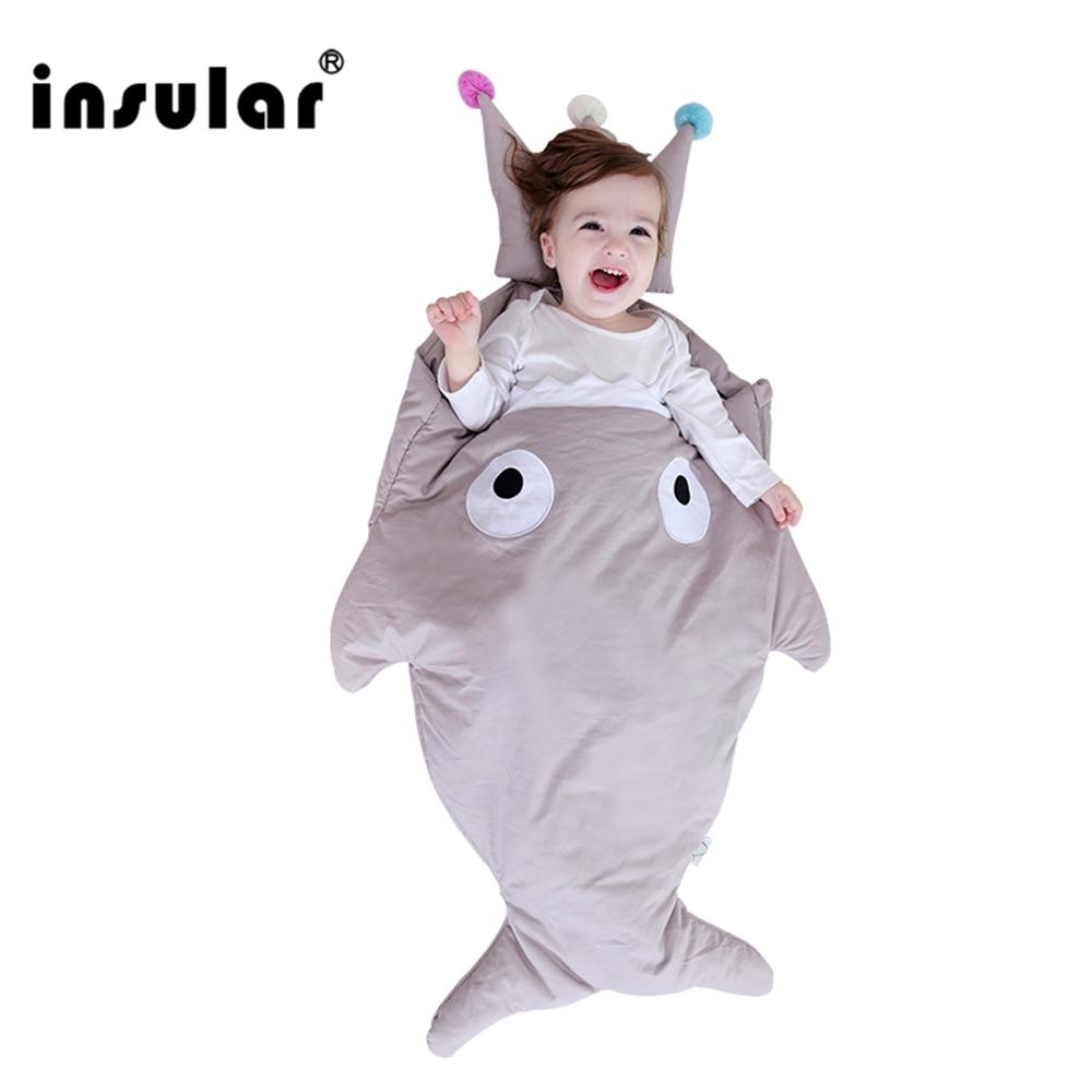 Nový styl Cute Cartoon Baby Sleep Bag Zimní Baby Sleep Sack Teplé dětské deky Zip pro kočárek