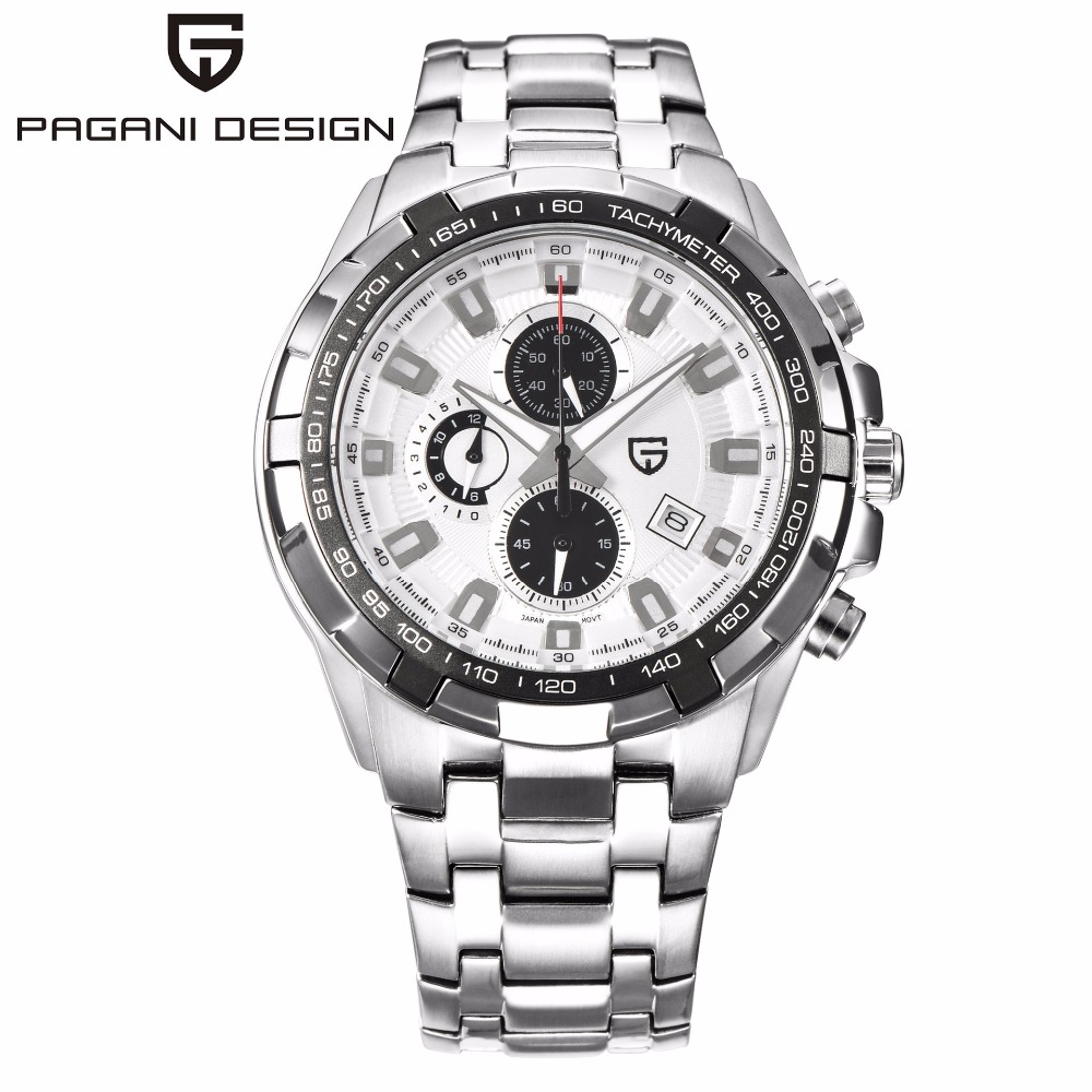 PAGANI DESIGN Business Mens Watches Top Brand Luxury Sport Chronograph Quartz Watch Men Men's Waterproof Clock erkek kol saati lige mens watches top brand luxury man fashion business quartz watch men sport full steel waterproof clock erkek kol saati box
