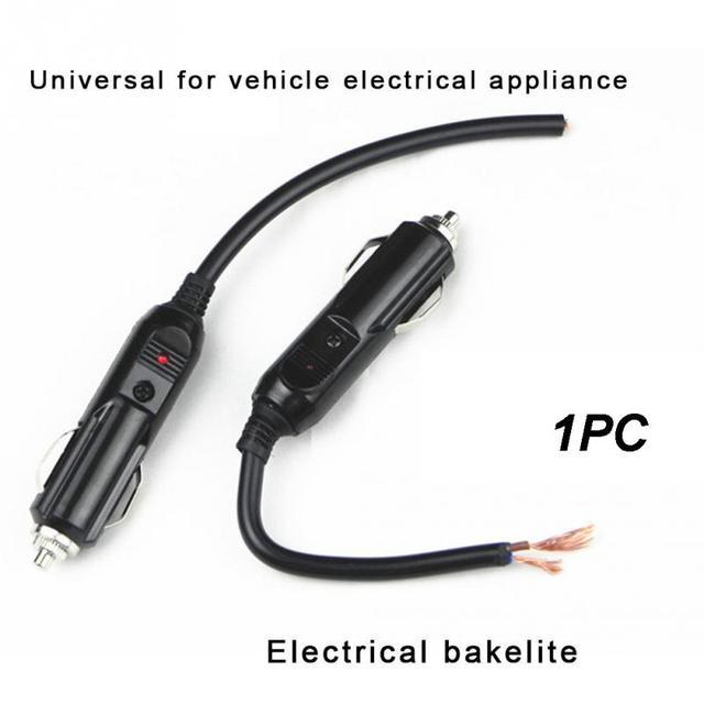 12V-24V Car Cigarette Lighter Plug Auto Power Supply Adapter Socket Connector