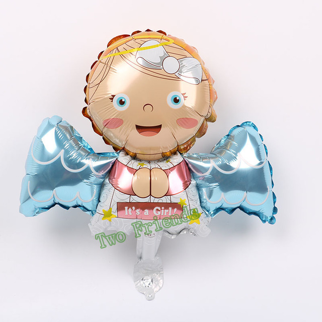 Mini Elf Angel Foil Balloons 2kind 20pcs Wings Baby Birthday Party Decorations Kids Gifts Globos Shower Boy Girl Lovely Toy
