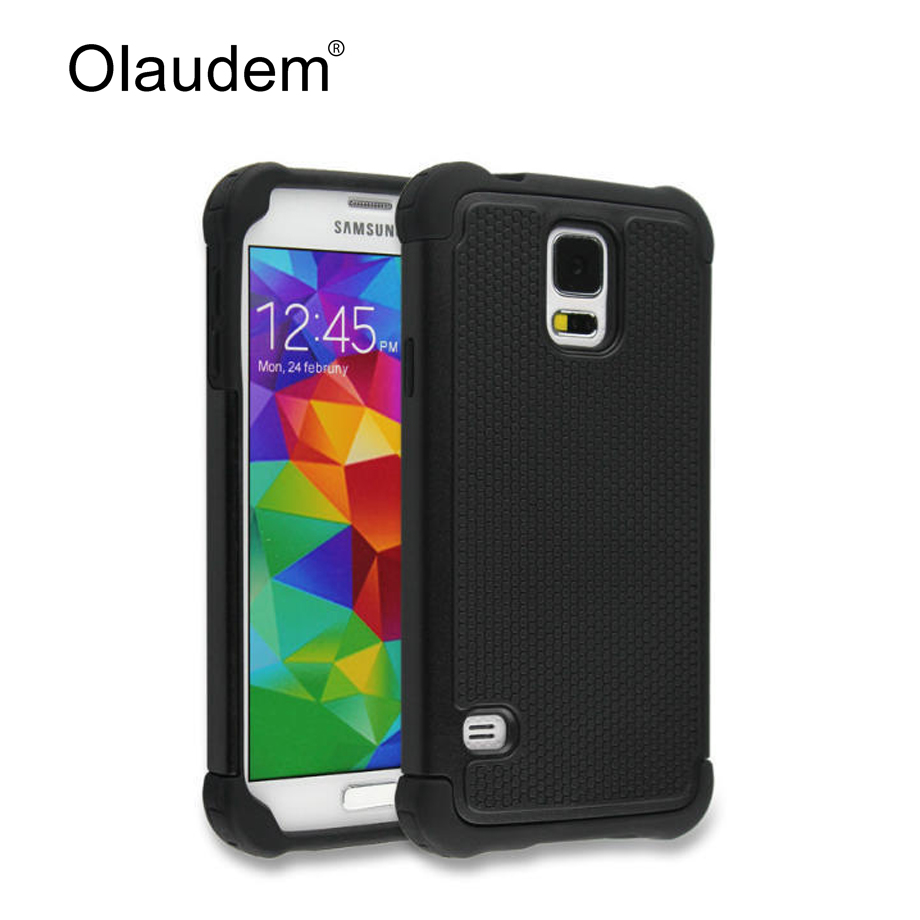 S5 mini Hard Armor TPU + PC Hybrid Tough Phone Case For Samsung Galaxy S5 mini Silicone Back Cover Rubber Protective Bag 72X