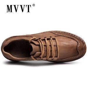 Image 4 - MVVT חורף רטרו גברים מגפיים למעלה איכות עור אמיתי מגפי גברים חורף קרסול מגפי אופנה פלטפורמת גברים נעליים