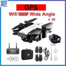 SMRC S20 drone 1080 P HD Caméra avec Double GPS SUIVRE ME FPV quadcopter rc Pliable Selfie Vidéo En Direct pour Enfant cadeau débutants