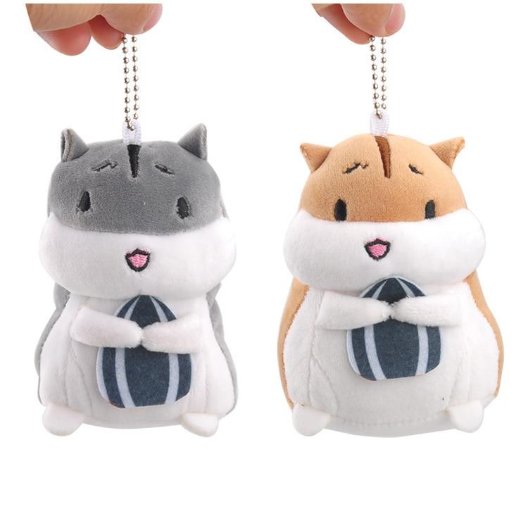 Lovely 10cm Hamster Plush Dolls Toy,  Simulation Hamster Soft Animal Dolls , Guinea Pig Keychain Toy For Children Christmas Gift