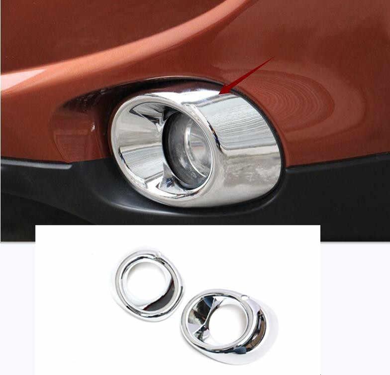 Chrome Front Bumper Fog Light Cover Trim Molding For Mitsubishi Outlander 2014