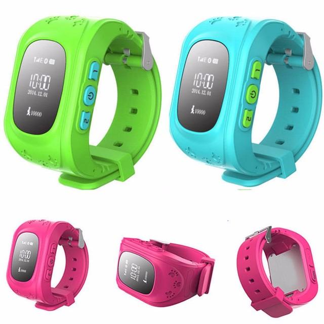 Hot anti-perdida smartwatch criança q50 guarda para ios android smart watch crianças kid relógio de pulso gsm gprs localizador gps tracker