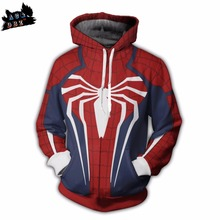 AC DBZ 2018 new children s font b anime b font hooded cool spider man jersey