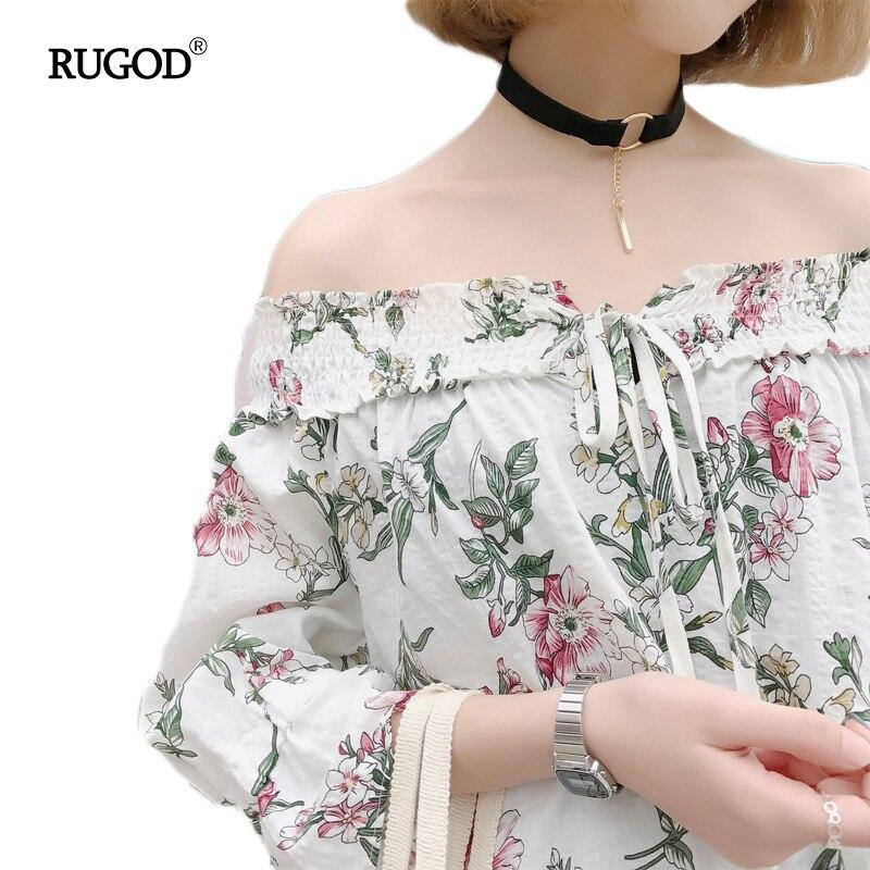 Rugod mujeres tops 2017 nueva sexy hombro ladies tops clothing camisetas tops im