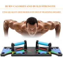 Household Multifunction Push Up Rack Board 9 System Comprehensive Fitness Exercise Workout Push-up Stands Body Building Training chic quality pair of multifunction fitness body building equipment i shaped push ups rack