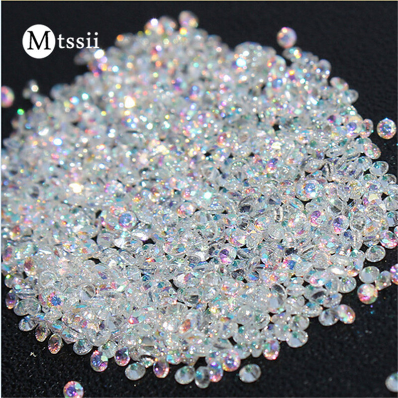 Mtssii Mix Sizes 1000PCS/Pack Crystal Clear AB Non Hotfix Flatback Rhinestones Nail Rhinestoens For Nails 3D Nail Art Decoration 1728pcs clear crystal ab ss3 to ss10 mini sizes nail art non hotfix crystal glass rhinestones nail decoration