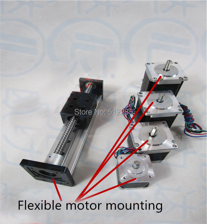 High Precision CNC SGX 1204 Ballscrew Sliding Table effective stroke 600mm+1pc nema 23 stepper motor  XYZ axis Linear motion toothed belt drive motorized stepper motor precision guide rail manufacturer guideway