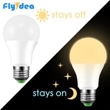 LED czujnik światła dziennego żarówka E27 lampa światła 10W 15W 220V AC 110V IP44 ganek zewnętrzny światła ogrodowe dzień noc światło smart auto on/Off
