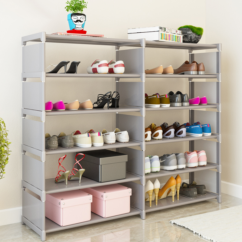 5 layers 10 grid Shoe rack Non-woven fabric Assembly Shoe cabinet home living room Furniture Shoes organizer storage cabinet double row 12 grid shoe rack wine red non woven organizer storage cabinet assembly shelf shoe cabinet home living room furniture