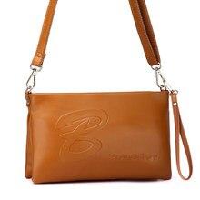 Block Letters Printing Small Crossbody Bag Lady Cowhide Casual Small Envelope Bag Women Designer Shoulder Bag