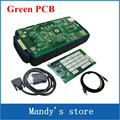 Green PCB board ! New tcs cdp pro with bluetooth V5.008 R2 cars trucks diagnostic tool working better than tcs cdp
