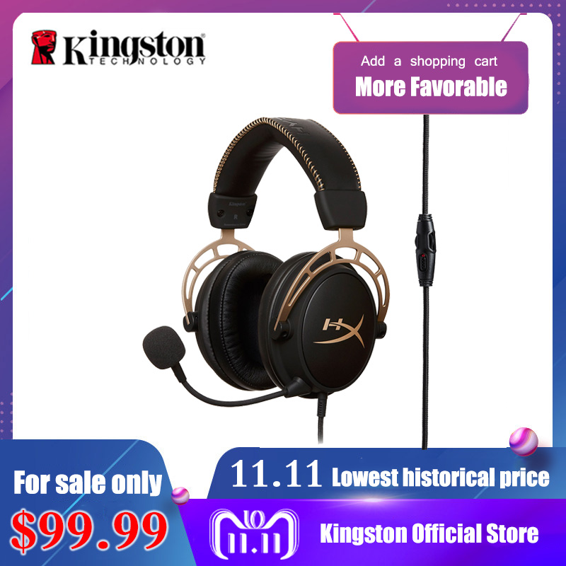 Kingston HyperX Cloud Alpha Black Gold Limited Edition E-sports headset With a microphone Gaming Headset For PC PS4 Xbox Mobile need for speed rivals limited edition игра для xbox one