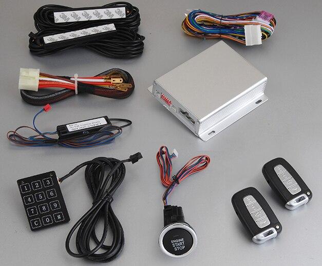 Новая технология дистанционного управления PKE двигатель старт стоп система Пассивный Автозапуск автомобиля сигнализация с сенсорным паро