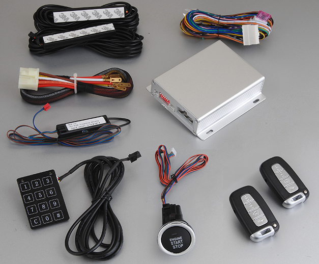 New Technology Remote Control PKE Engine Start Stop System Passive Keyless Entry Car Alarm System with Touch Password Keyboard