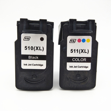 Vilaxh 2pcs pg510 cl511 compatible ink cartridge for canon pg-510 cl-511 For Canon PIXMA MP250 270 280 IP2700 480 MX330 MX340