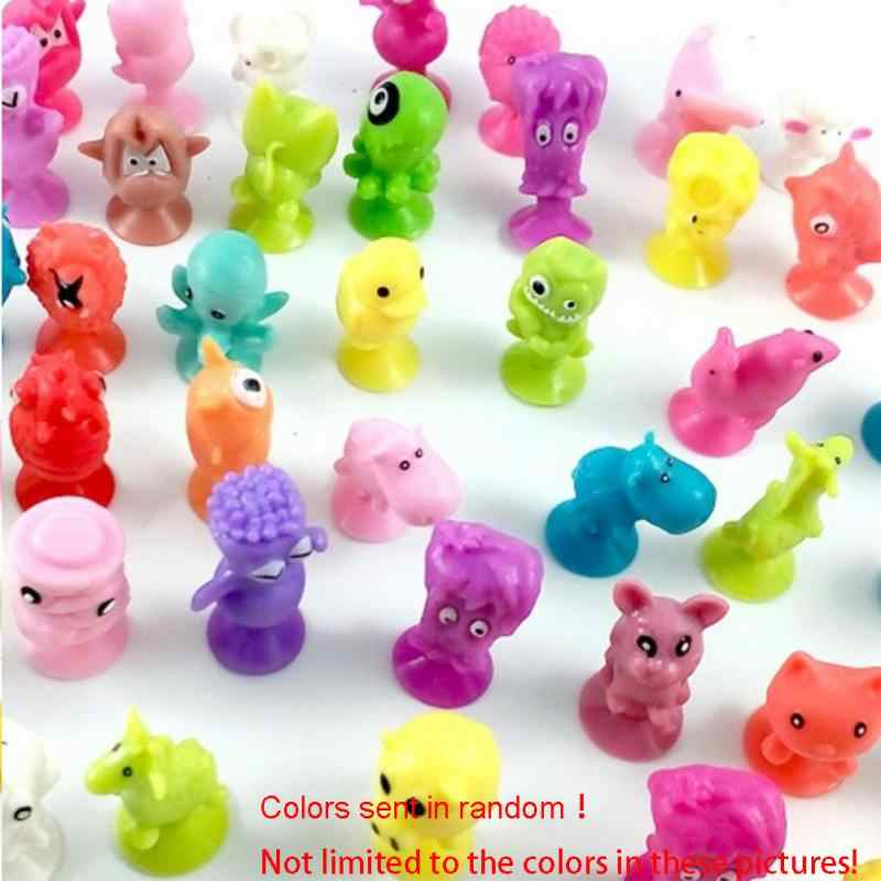 10 Pcs/lot Cute Mini Sucker Dolls Marine Land Strange Animal Cupule Suckers kids Action Toy Capsule Model Suction Cup Puppets