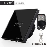 FUNRY EU UK 1 Gang 1 Way Smart Touch Switch 110 220V Waterproof Fireproof Wifi Remote