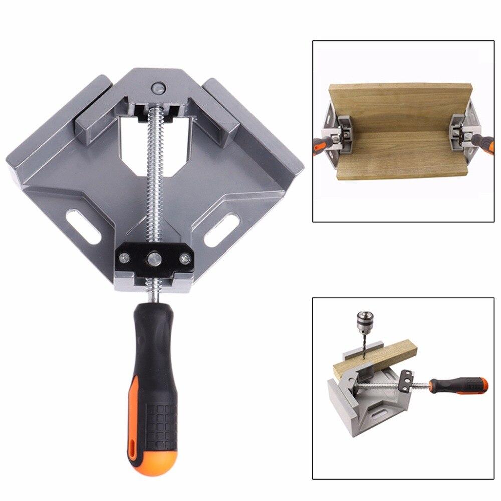 Corner Clamp Angle Vise 90 Angle Great DIY Home Handle Tool Aluminum Alloy Corner Clamp Workbench уголок global truss f23c31 90° 3 ways corner