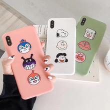 Cartoon Peanut Charlie dog phone case For iphone X XS MAX XR 7 Soft silicone Matte cover 6 6s 8 plus