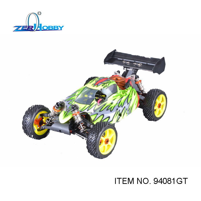 RC CAR TOYS HSP BAZOOKA 1/8 NITRO POWERED 4X4 OFF ROAD REMOTE CONTROL BUGGY TW SH28 ENGINE  (ITEM NO. 94081GT) hsp clutch bell sets 81020 fit hsp rc 1 8 on road car off road truck 94081 94086