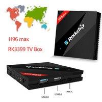 Satxtrem Hot H96 MAX RK3399 Android 6.0 TV set-top Box 4 gb ram 32 gb rom 4 K WiFi 1000 M LAN H.265 BT4.0 Mediaspeler