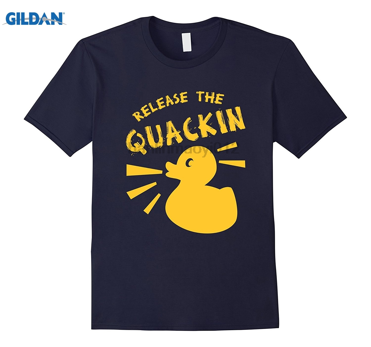 GILDAN CUTE RELEASE THE QUACKIN T-SHIRT Funny Yellow Rubber Duck Womens T-shirt