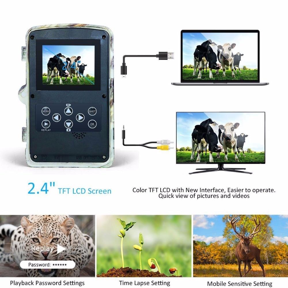 16MP Night vision 2.4LCD Hunting Wild Camera H881 Photo Trap 1080P IP56 Waterproof Infrared Trail camera 2