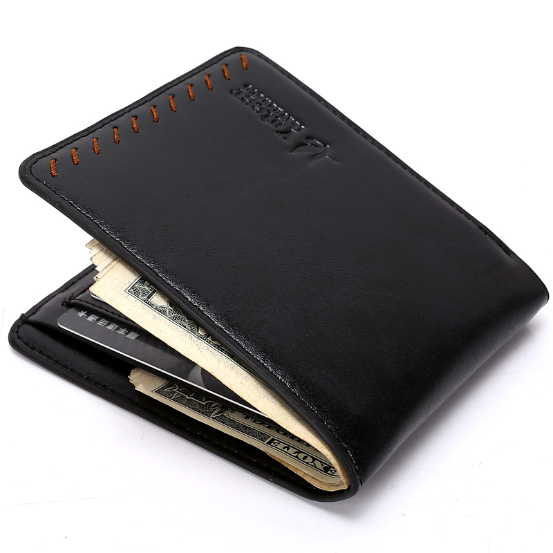 Yateer Fashion New Men's Wallets Carteira Masculina Black Brown Color Quality 2 Folds Photo ID Credit Card Holder Purse Wallet oem 2015 carteira masculina couro qb1287
