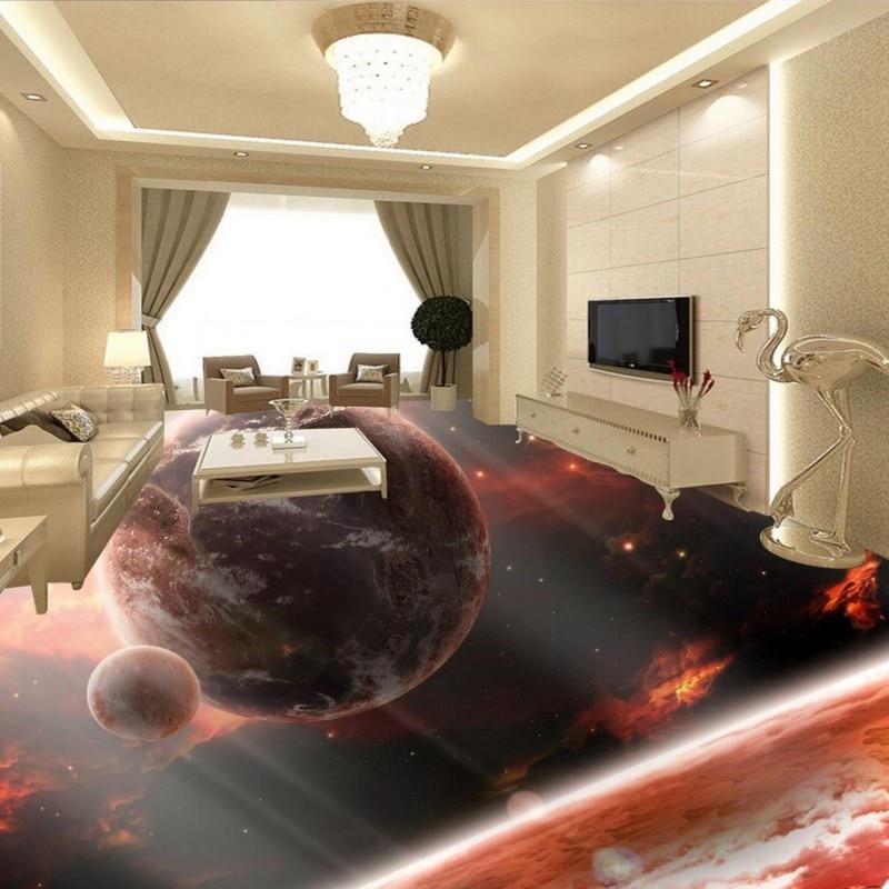 ФОТО Free Shipping custom paste Planet Earth Zenith wallpaper home courtyard self-adhesive floor mural