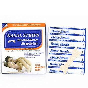 6000pcs=200boxes/lot (66x19mm) Hot Sell Health and Medical Nasal Strip New Better Sleep Anti Snoring Nasal Strips Providing