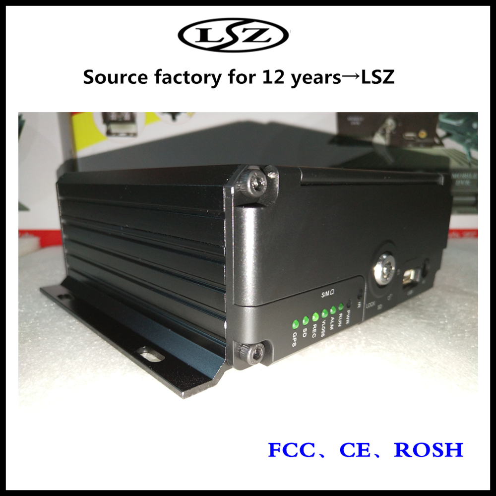 HD vehicle DVR 4CH hard disk monitor host support SD card mobile DVR boat / bus / truck general factory direct selling недорого