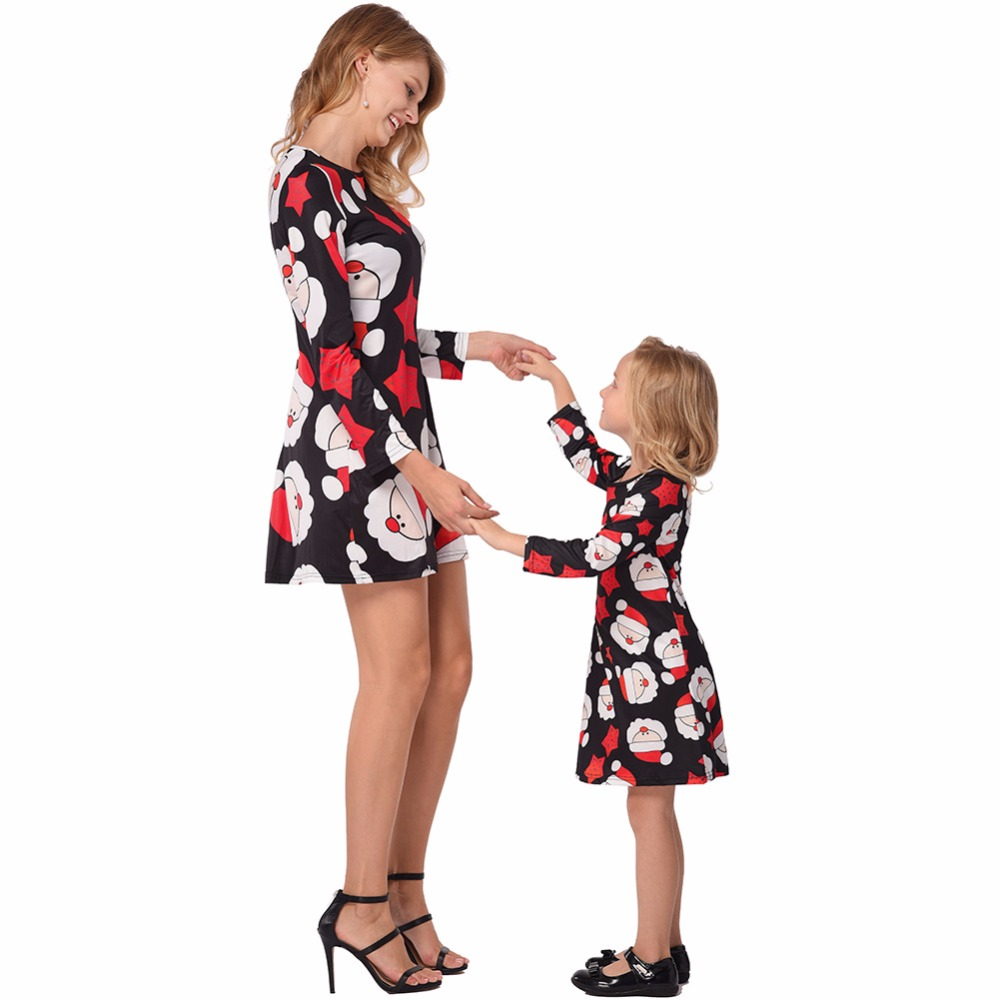 hot selling amazon europe christmas costumes family parent child pajamas red white green striped dress woman children dress girl in dresses from womens