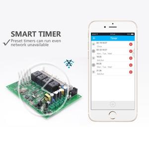 Image 3 - Itead Sonoff 4CH Pro R2 10A/Gang 4 Channel Wifi Smart Switch 433MHZ RF Remote Wifi Switch Inching Interlock Relay Alexa