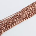 Fashion Chains Findings Copper Metal 9 Colors 1.5/2.4mm 1 by 1 Bamboo Ball Beads Jewelry Necklace Bracelet Links 100 Meters