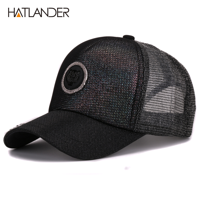 Prix pour Hatlander femmes robe d'été maille casquettes de baseball snapback os féminin hommes chapeau réglable soleil chapeau de camionneur