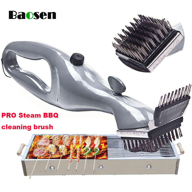 Baosen Edelstahl BBQ Reinigung Pinsel Multifunktionale Outdoor Grill Reiniger Mit Dampf Power BBQ Werkzeuge Küche Gadgets