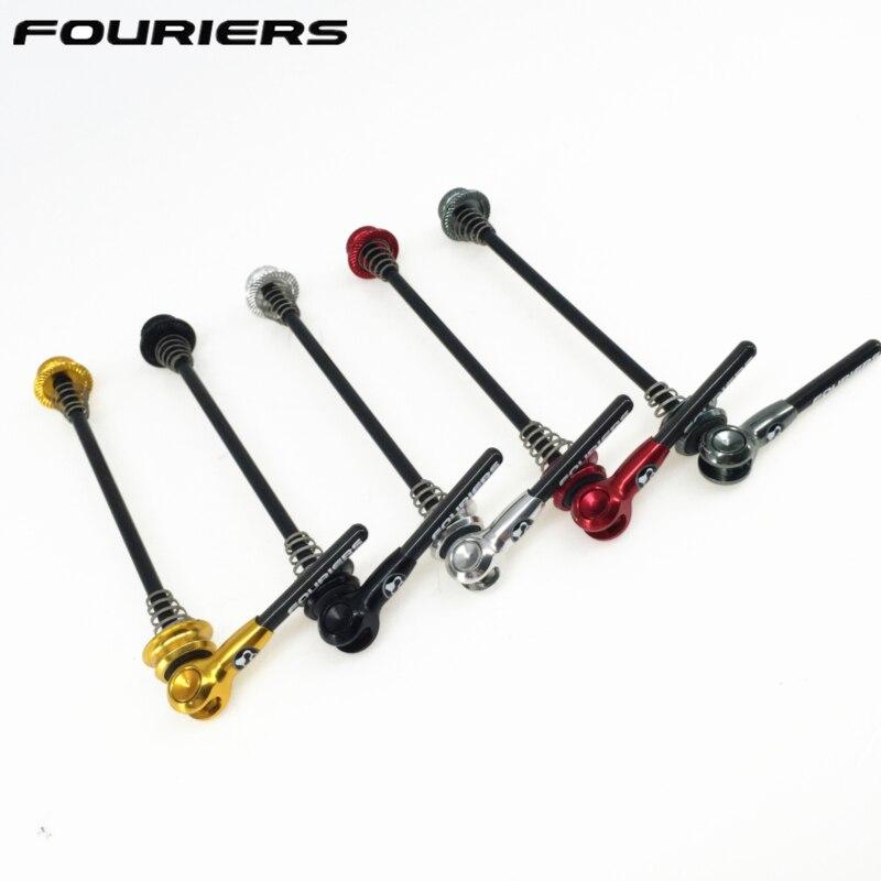 Fouriers à dégagement rapide en titane Axel avec levier en carbone QR brochettes pour vtt ou vélo de route 100mm 130mm 135mm