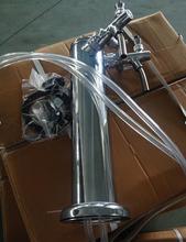 2 Отверстий нержавеющая сталь пиво колонка набор с регулируемой пива кран шланг ПВХ Пива башня комплект kegerator нажмите доморощенного для бар/Отель