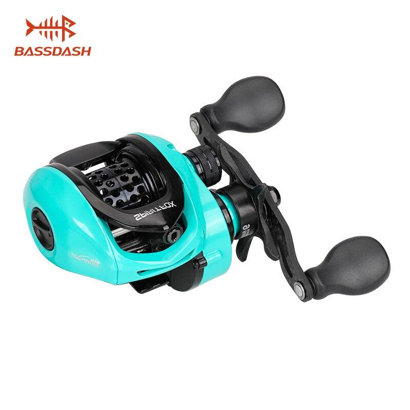 Bassdash ultra-léger Baitcasting pêche bobine esprit renard poids 165g 8 + 1 roulement truite bobine Smoth gauche droite moulinets